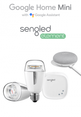 Pametne žarnice Sengled Element Kit in Google Home mini