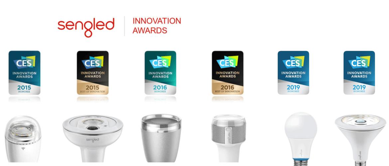 Pridobljene CES nagrade proizvajalca pametnih led žarnic Sengled