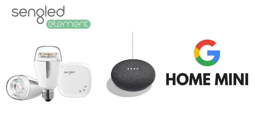 Pametne žarnice sengled element in google home mini 1