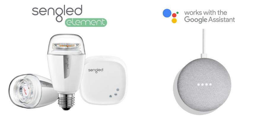 Pametne žarnice sengled element in google home mini