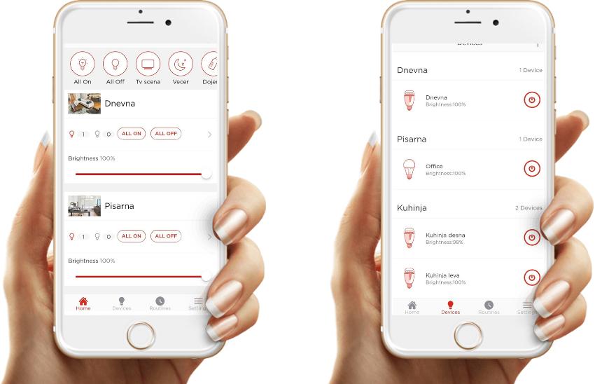 Sengled Home aplikacija za pametne žarnice Sengled