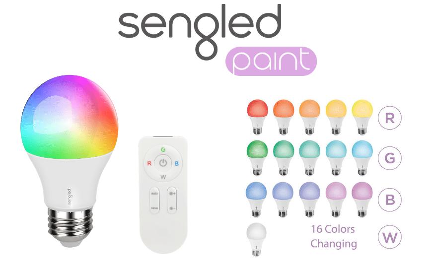Sengled Paint E27 RGBW LED ŽARNICA Z DALJINSKIM UPRAVLJALNIKOM