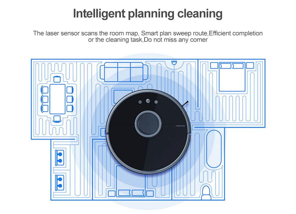 Xiaomi robotski sesalnik Roborock Sweep One S55 Lasersko skeniranje za ustvarjanje zemljevida čiščenja