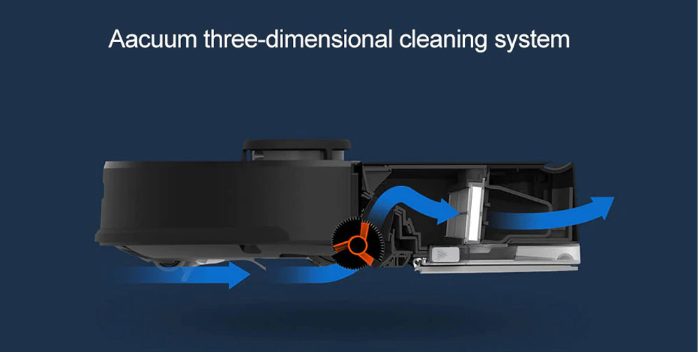 Xiaomi robotski sesalnik Roborock Sweep One S55 Vakuumski ciklonski 3D čistilni sistem